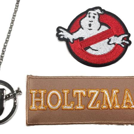 Ghostbuster Holtzmann Patch & Screw U Necklace Set