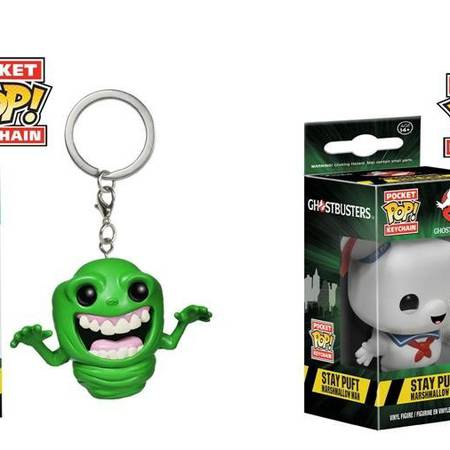 Ghostbusters Funko Pop keychain : Slimer and Stay Puft