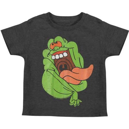 Ghostbusters Little Boys' Slimer Childrens T-shirt 7 Heather