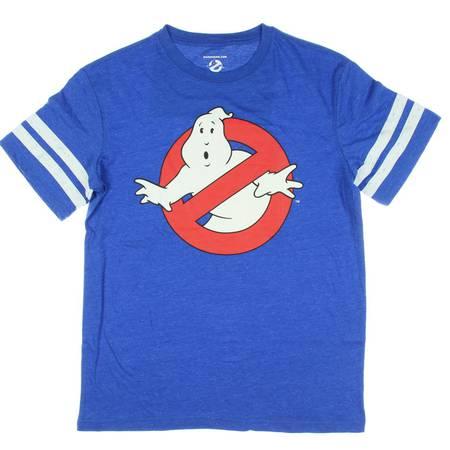 Ghostbusters Logo Slimer Hockey Graphic T-Shirt