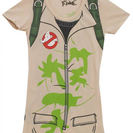 Ghostbusters Outfit With Backpack Print Juniors Costume T-Shirt