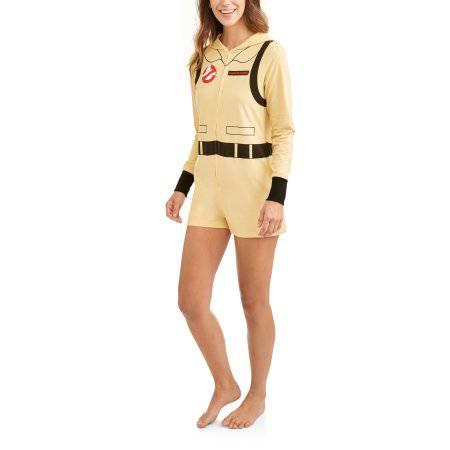 Ghostbusters Women's Licensed Sleepwear Adult Costume Rompers
