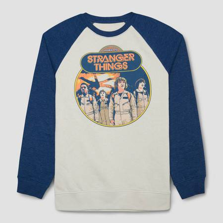 Men's Stranger Things Raglan Sweatshirt