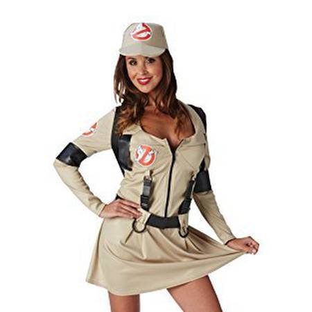Rubie's Official Ghostbusters Ladies Fancy Dress Halloween 1980s Womens Adult 80s Costume Outfit UK 8-10 by Rubie�´s