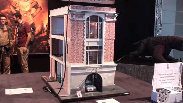 Check out this amazing 3 foot tall Ghostbusters Firehouse!
