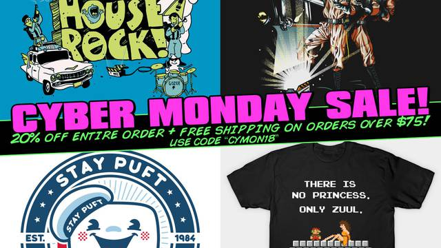 CYBER MONDAY SALE is now live in the Ghostbusters News TeePublic store!