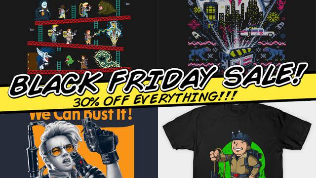 GHOSTBUSTERS NEWS BLACK FRIDAY SALE! UP TO 30% OFF!