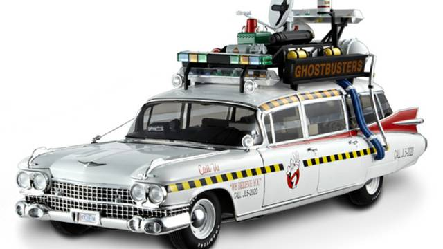 Hot Wheels Elite 1:18 scale Ghostbusters Ecto 1A now back in stock!