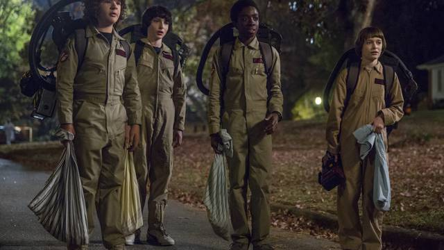 "McFarlane Puts ""Stranger Things"" Kids in 'Ghostbusters' Costumes [Toy Fair]"
