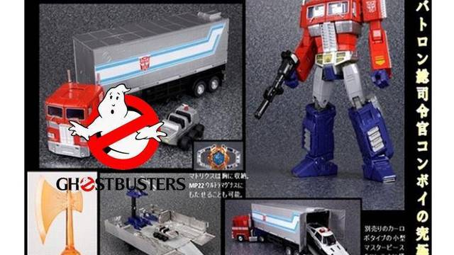 Potential Ghostbusters and MP-10 Optimus Prime Crossover Figure, Encore Graphy, Noise, and Frenzy