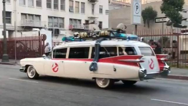 REPORT/VIDEO: Ecto-1 being filmed today in downtown Los Angeles