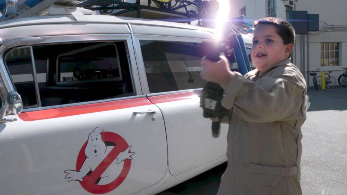 Ghostheads Come Together to Give Special Kid Memorable Ghostbusters Day Celebration