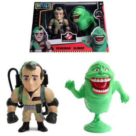 """Metals Ghostbusters 4"""" DC Figures Twin Pack, Venkman and Slimer"""