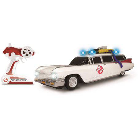 NKOK Ghostbusters R/C Ecto-1 Classic with Working Headlights, 1:14 Scale