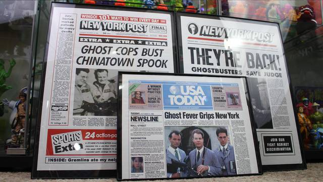 Check out these Ghostbusters newspaper recreations!