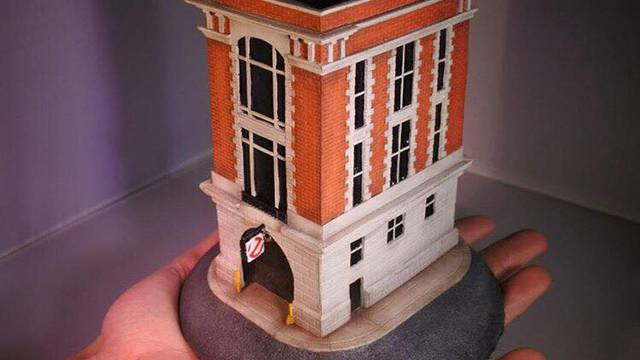 Check out this custom made Ghostbusters Firehouse miniature