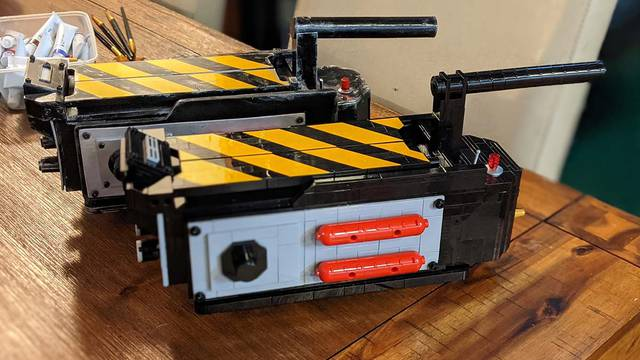 Detailed LEGO Ghost Trap build posted by Ghostbusters & Seinfeld set creator