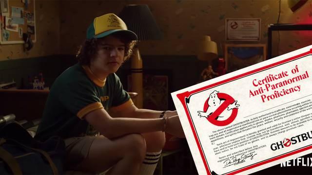 EASTER EGG: Stranger Things Season 3 trailer shows off Dustin's Ghostbusters Fan Club certificate