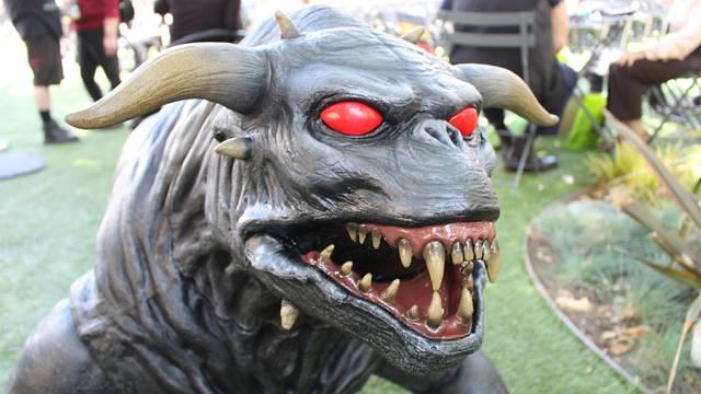 Exclusive new video + photos of Spirit Halloween's Ghostbusters Terror Dog!