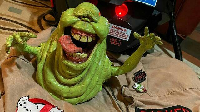 Fan-made Slimer statue now on sale + hand puppet coming soon!