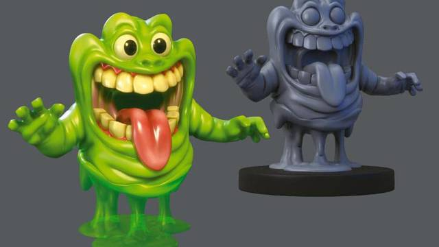 First look at Slimer from upcoming Ghostbusters/Men in Black crossover