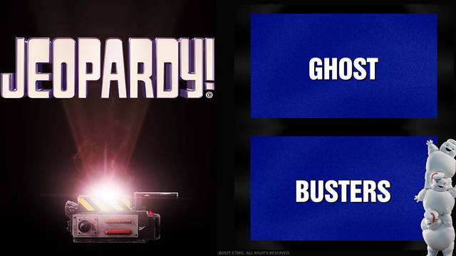 """""""GHOST"""" and """"BUSTERS will be two options for Jeopardy contestants this week"""