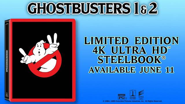 Ghostbusters 1 & 2 Limited Edition 4K Ultra HD & Blu-Ray Steelbook 2019 Announcement