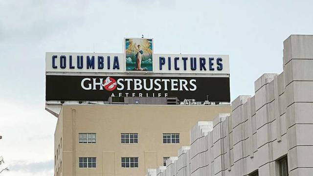 Ghostbusters: Afterlife banner goes up at Sony Pictures Studios