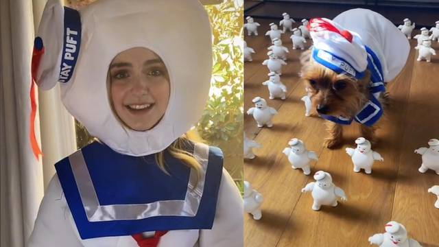 Ghostbusters: Afterlife star Mckenna Grace celebrates Halloween early with Mini Puft filled TikTok video