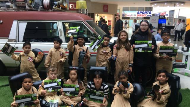 Ghostbusters car visits Stratford Centre to mark Halloween