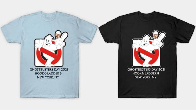 Ghostbusters Day 2021 Hook & Ladder 8 t-shirts now available!