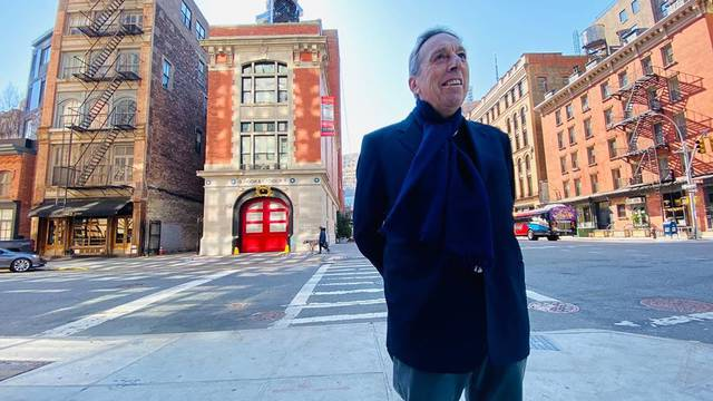 Ghostbusters directors return to famed New York firehouse