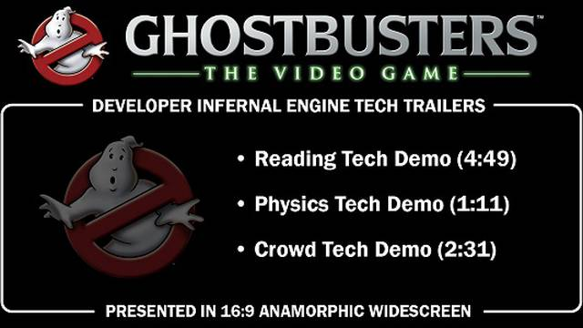 Ghostbusters Disc Preservation Project - Ghostbusters: The Video Game Tech Trailers DVD
