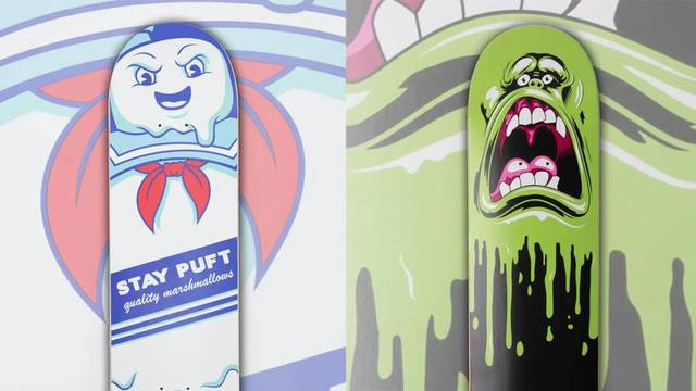 Ghostbusters featured in a new line of exclusive skateboard decks from Zavvi