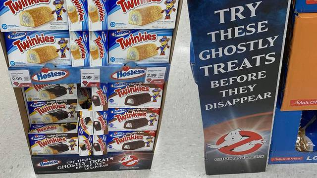 Ghostbusters Hostess Twinkies displays are now showing up at stores!