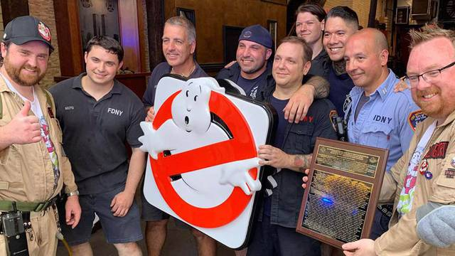 Hook & Ladder 8 firehouse celebrates Ghostbusters Day with new sign
