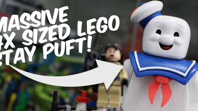 How I built a nearly 7″ LEGO Stay Puft Marshmallow Man figure!