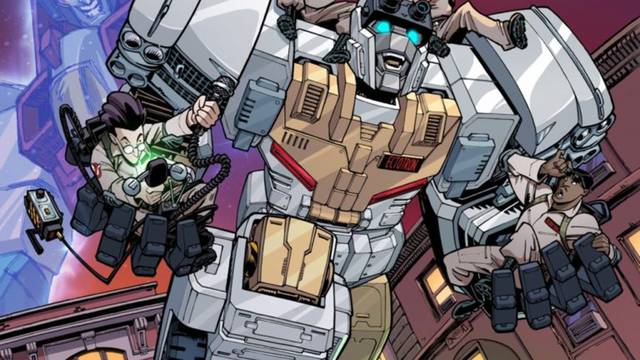 IDW unveils first look preview of Transformers/Ghostbusters #1 - Flickering Myth