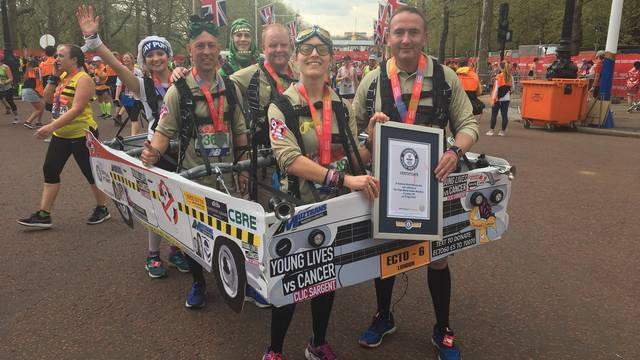 In costume Ghostbusters fans set Guinness marathon record