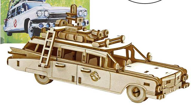 IncrediBuilds launch Ghostbusters Ecto-1 craft wooden model kit