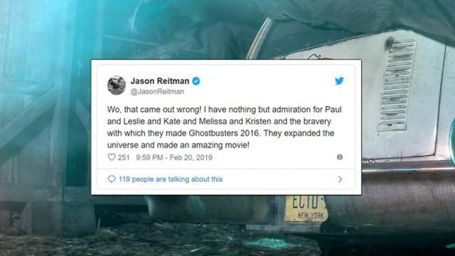 Jason Reitman clears up Ghostbusters comments + admires the bravery of the reboot's cast and crew