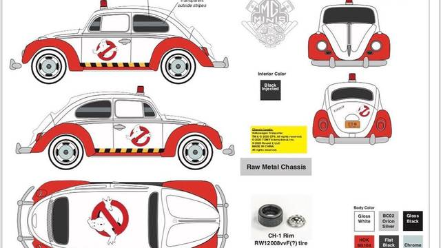 Johnny Lightning set to reimagine the Ghostbusters Ecto-1 as Volkswagen Bus + Beetle