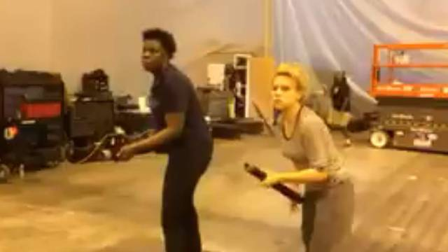 """Leslie Jones is getting nostalgic over the Ghostbusters reboot + releases unseen """"training"""" videos"""