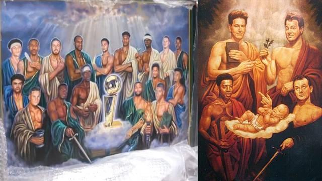 Milwaukee Bucks celebrate NBA Championship win with Ghostbusters II inspired painting