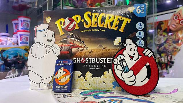 New Ghostbusters: Afterlife popcorn, 30+ year old soap, patch, art, and more! (Fan Mail Friday)