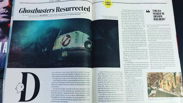 New Ghostbusters film featured in latest issue of Entertainment Weekly
