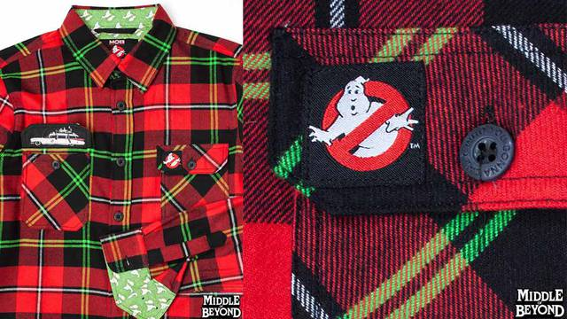 New Ghostbusters flannel shirt available from Middle of Beyond