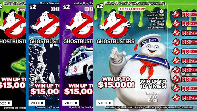 New Ghostbusters scratch-off cards available from Hoosier Lottery