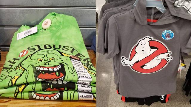 New Ghostbusters shirts spotted at Walmart and Spencers