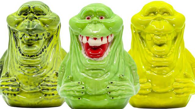 New Ghostbusters Slimer ceramic mugs from Middle of Beyond